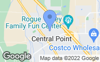 Map of Central Point, OR