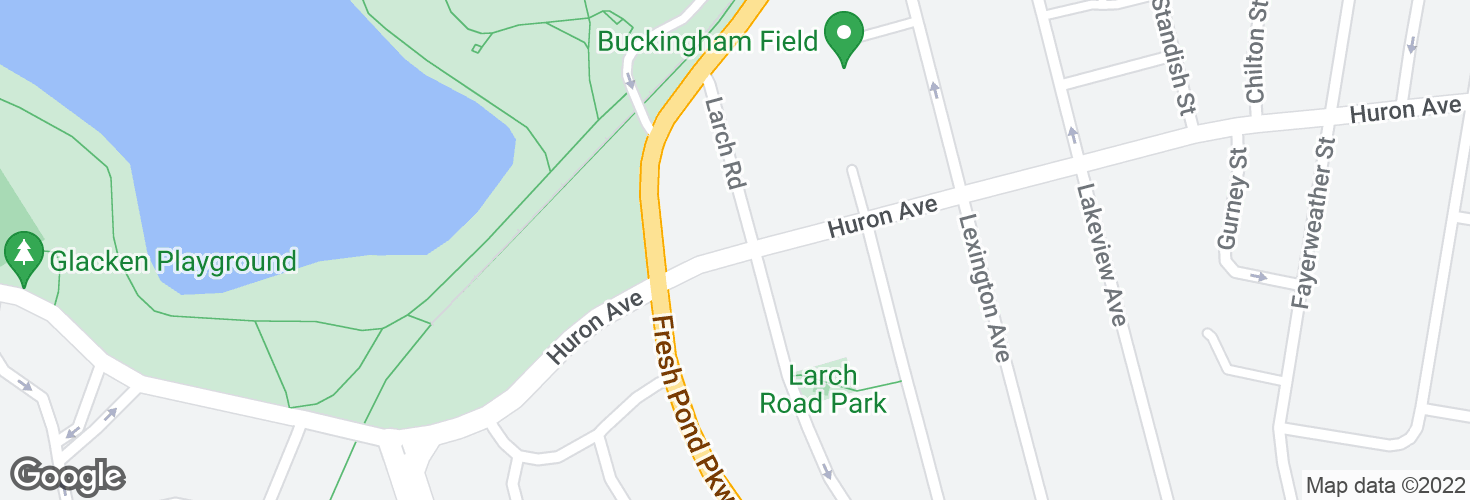 Map of Huron Ave @ Larch Rd and surrounding area