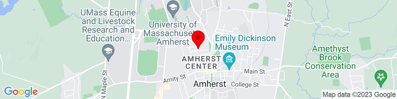 Google Map of 42.38027777777778, -72.52305555555556