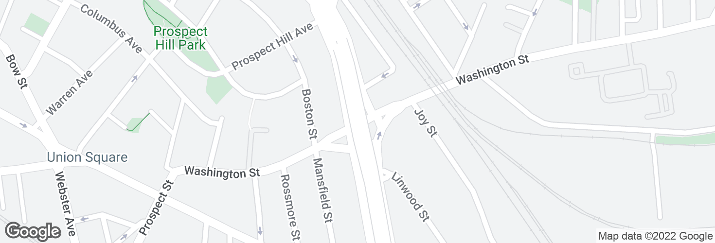 Map of Washington St @ McGrath Hwy and surrounding area