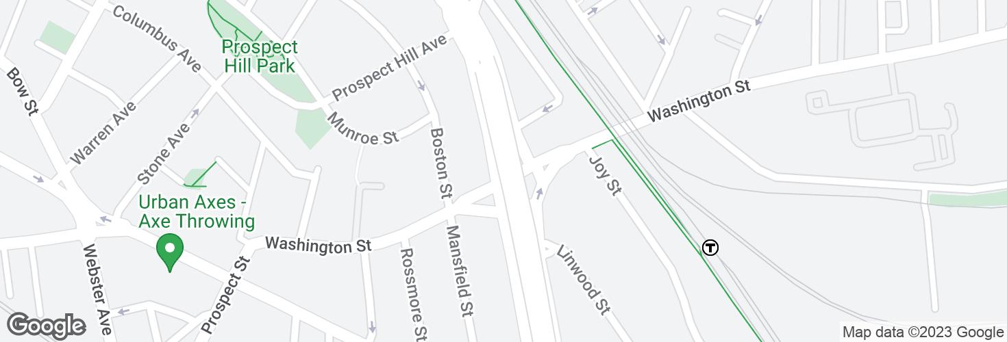Map of Medford St @ Washington St and surrounding area