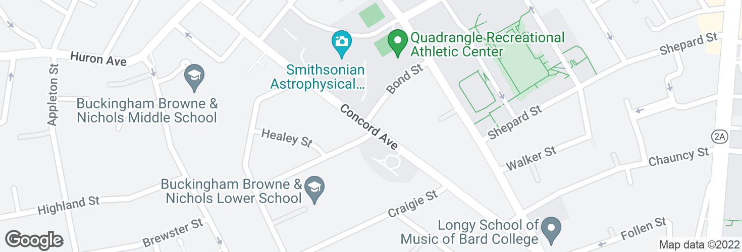 Map of Concord Ave @ Bond St and surrounding area