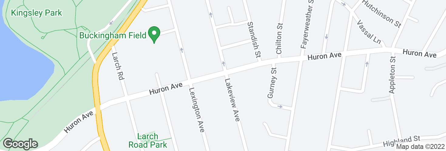 Map of Huron Ave @ Lakeview Ave and surrounding area