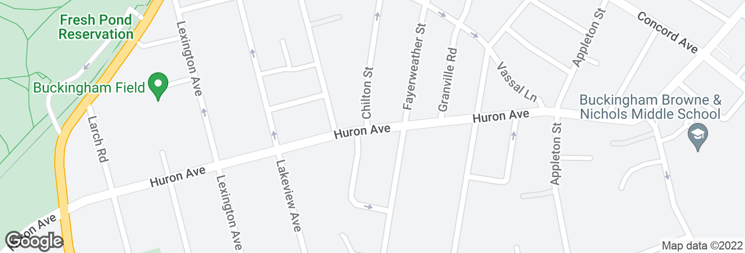 Map of Huron Ave @ Chilton St and surrounding area