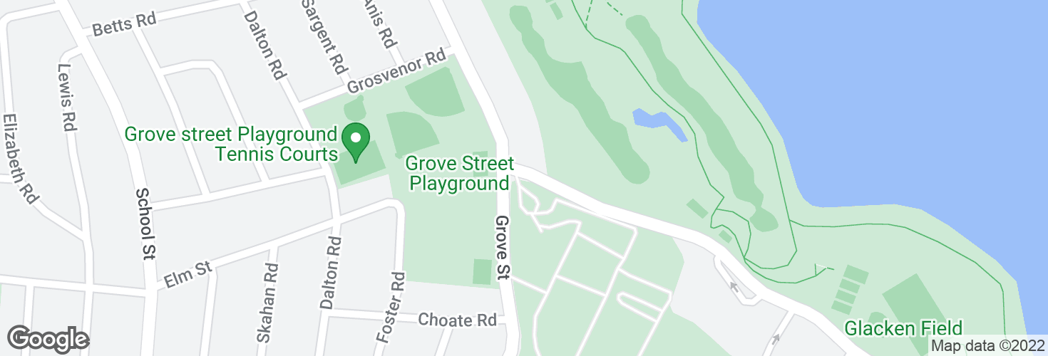 Map of Huron Ave @ Grove St and surrounding area