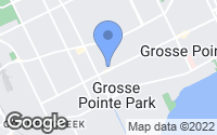 Map of Grosse Pointe Park, MI