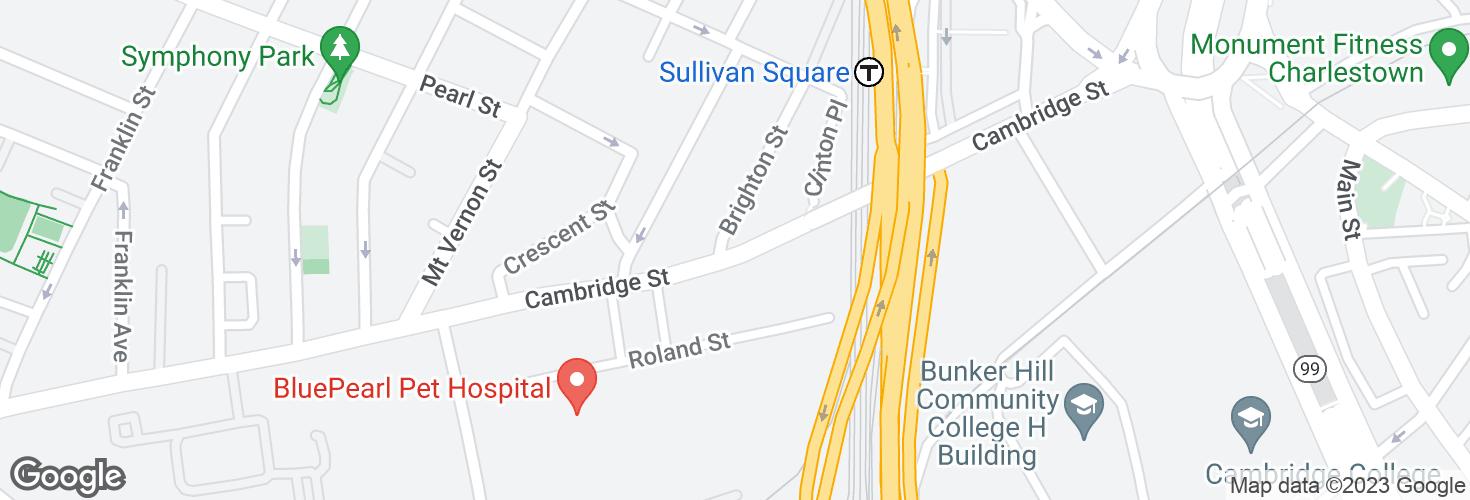 Map of Cambridge St @ Brighton St and surrounding area