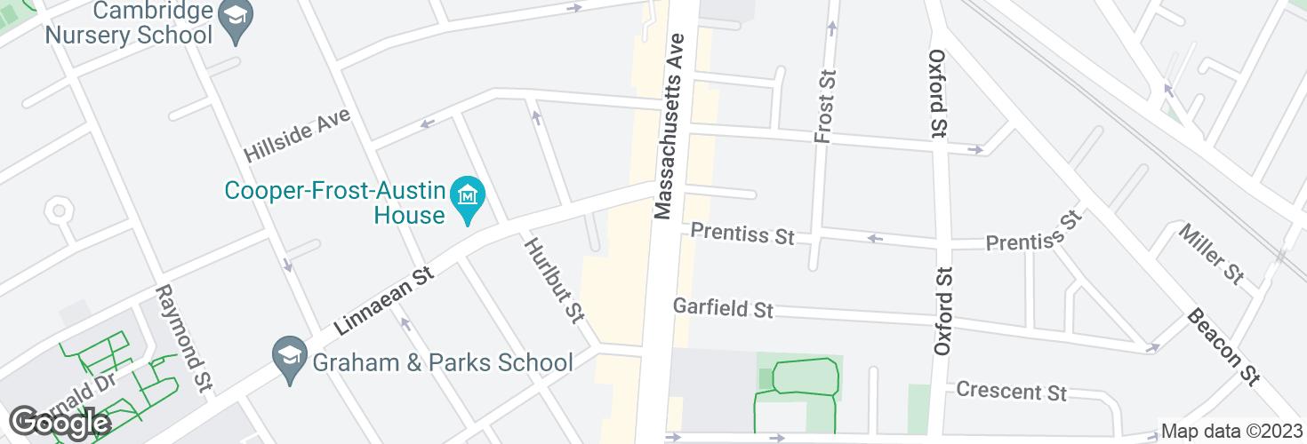 Map of Massachusetts Ave @ Linnaean St and surrounding area