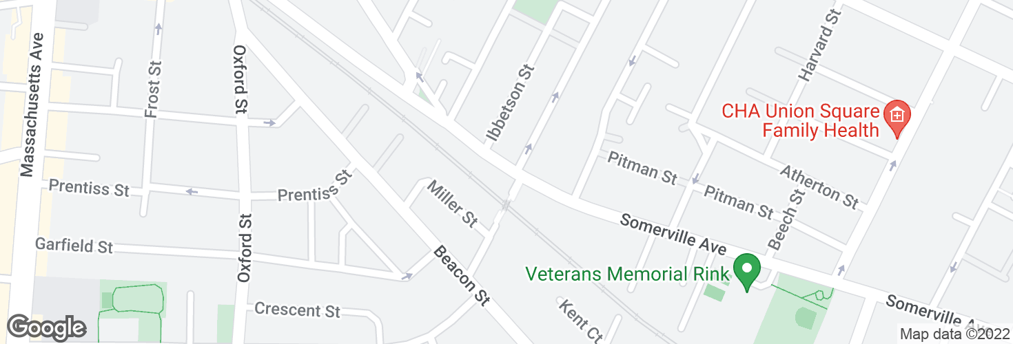 Map of Somerville Ave @ Sacramento St and surrounding area