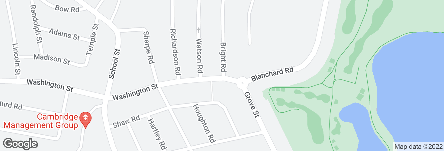 Map of Bright Rd @ Washington St and surrounding area