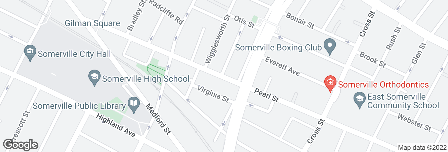 Map of Pearl St @ Wesley St and surrounding area