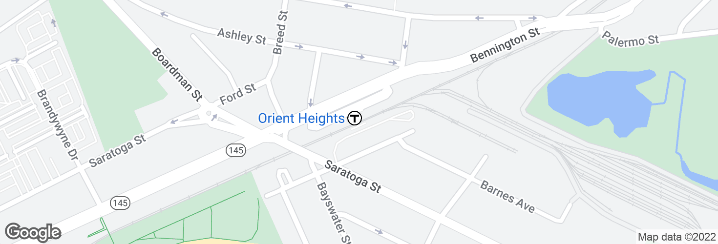 Map of Orient Heights and surrounding area