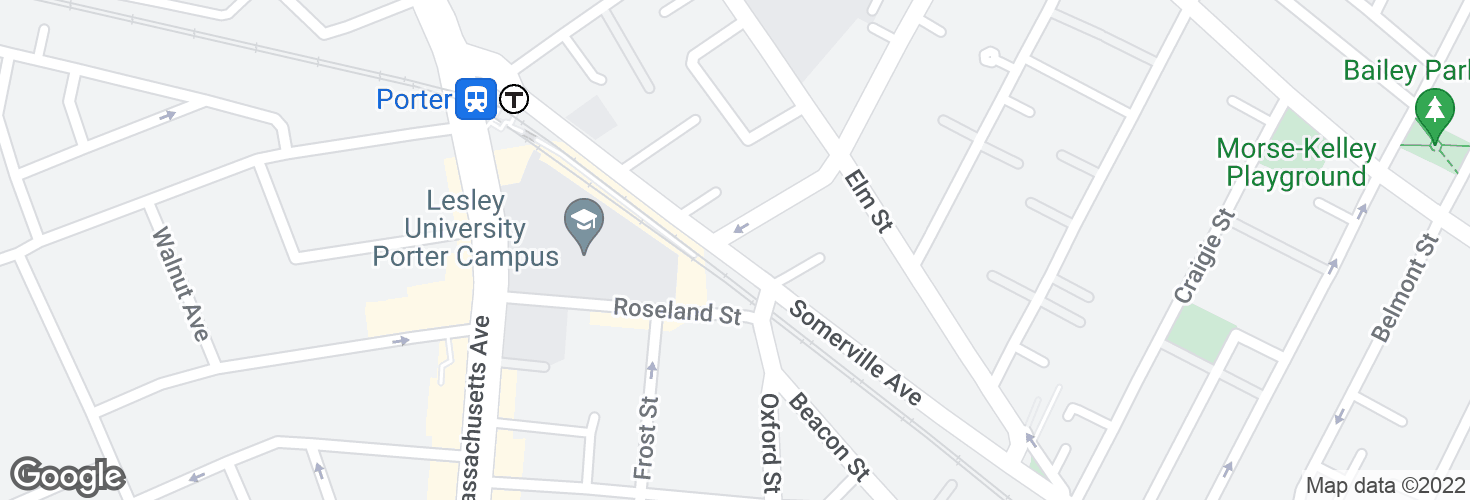 Map of Somerville Ave @ Mossland St and surrounding area