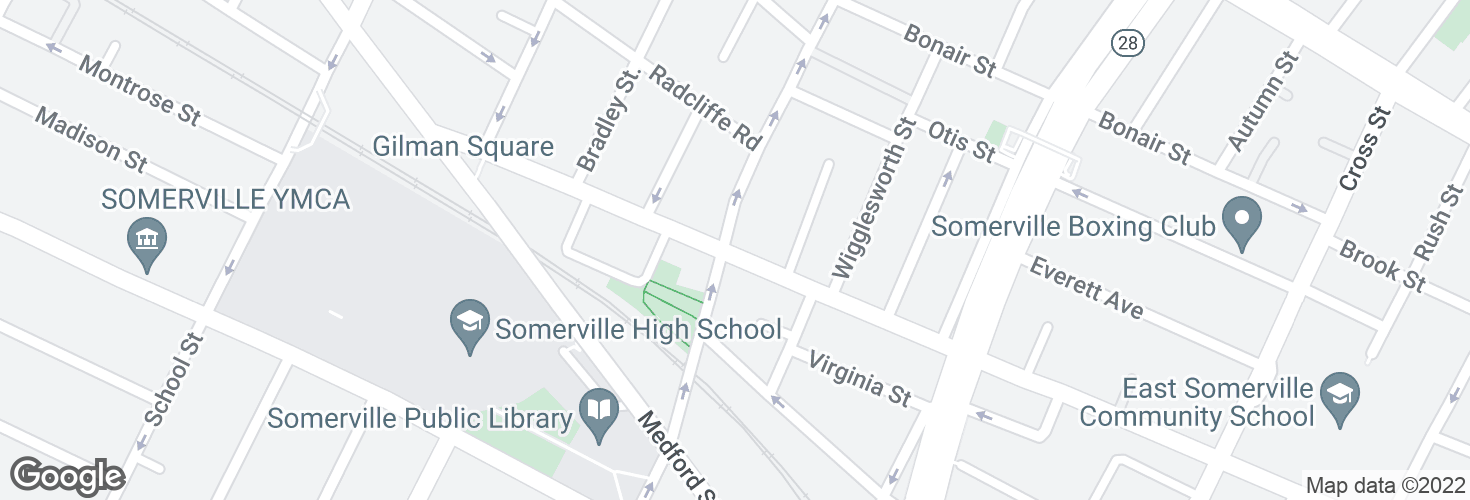 Map of Pearl St @ Walnut St and surrounding area