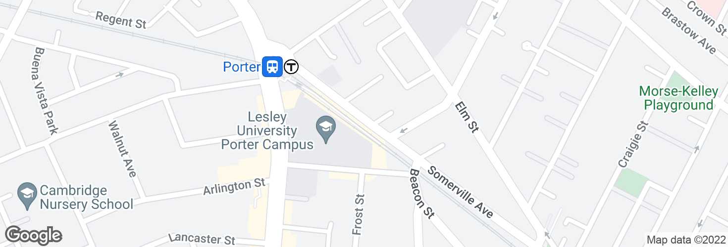 Map of Somerville Ave opp Beacon Terr and surrounding area