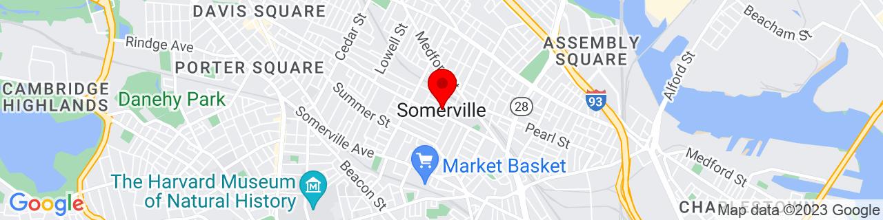 Google Map of 42.3876, -71.0995