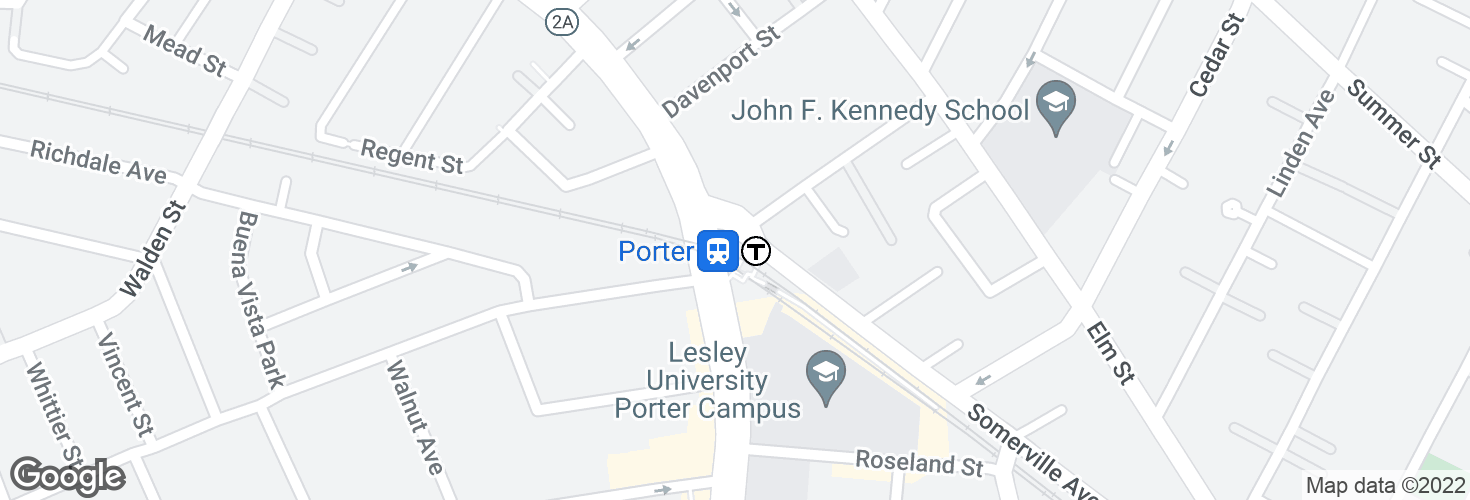 Map of Porter and surrounding area