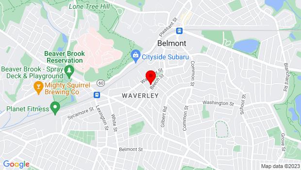 Google Map of 266 Beech Street, Belmont, MA 02478