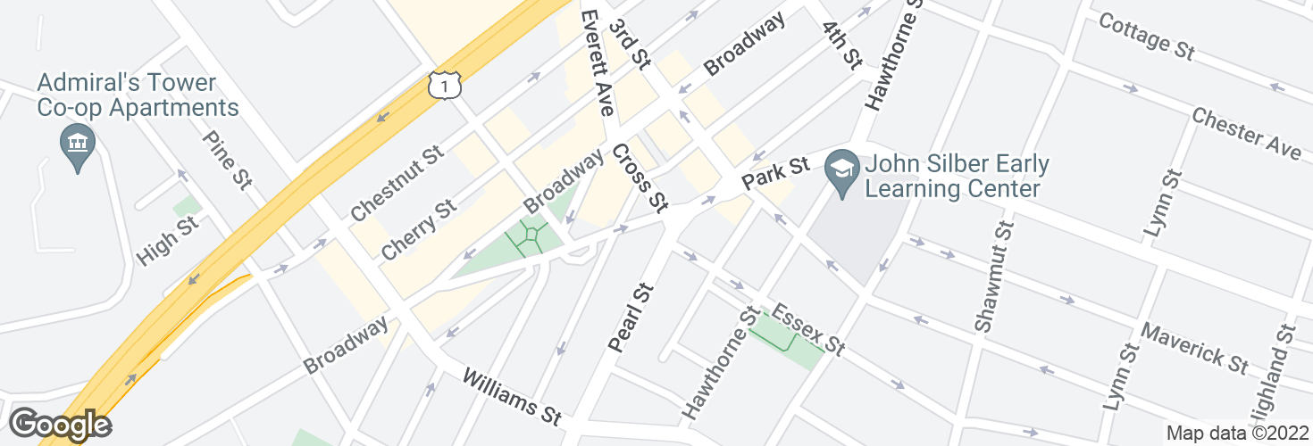 Map of Park St @ Cross St and surrounding area