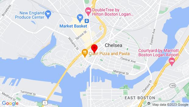 Google Map of 189 Winnisimmet Street, Chelsea, MA 02150