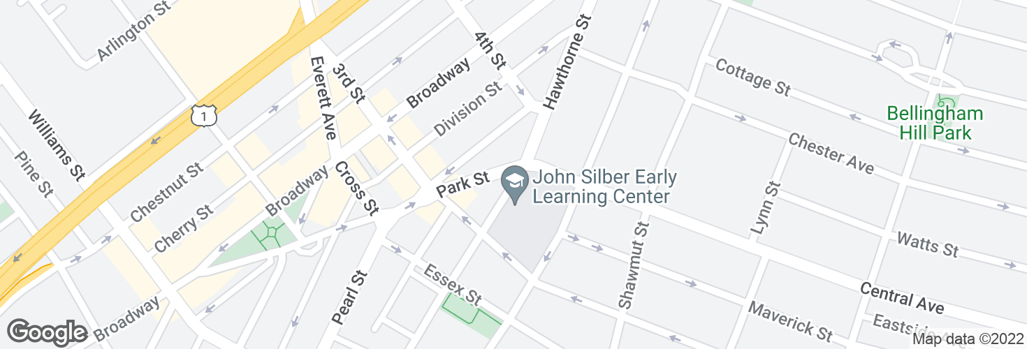 Map of Park St @ Hawthorne St and surrounding area