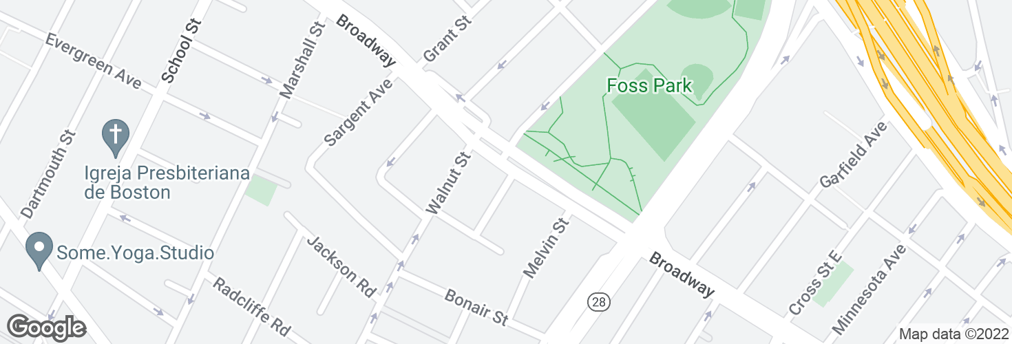 Map of Broadway @ Montgomery Ave and surrounding area