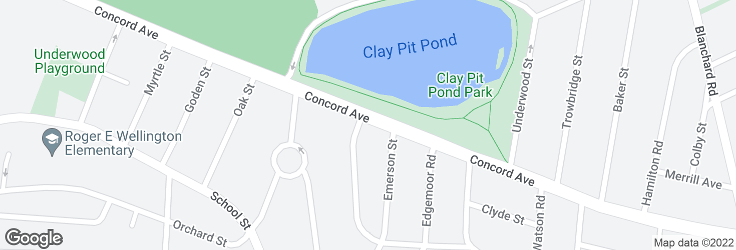 Map of Concord Ave @ Louise Rd and surrounding area