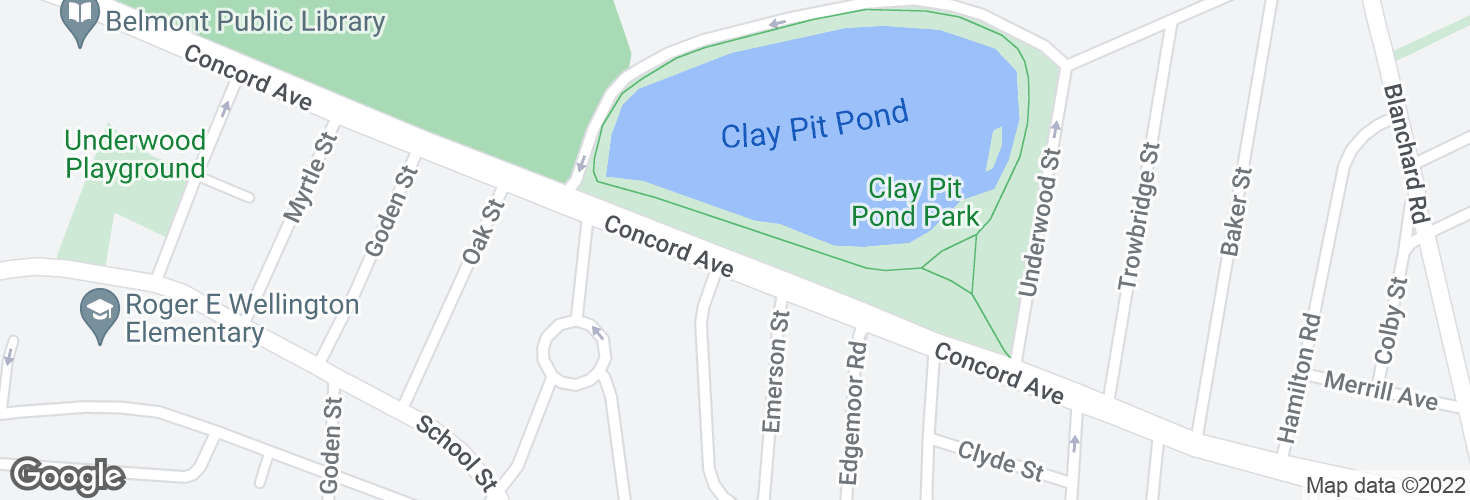 Map of Concord Ave opp Louise Rd and surrounding area