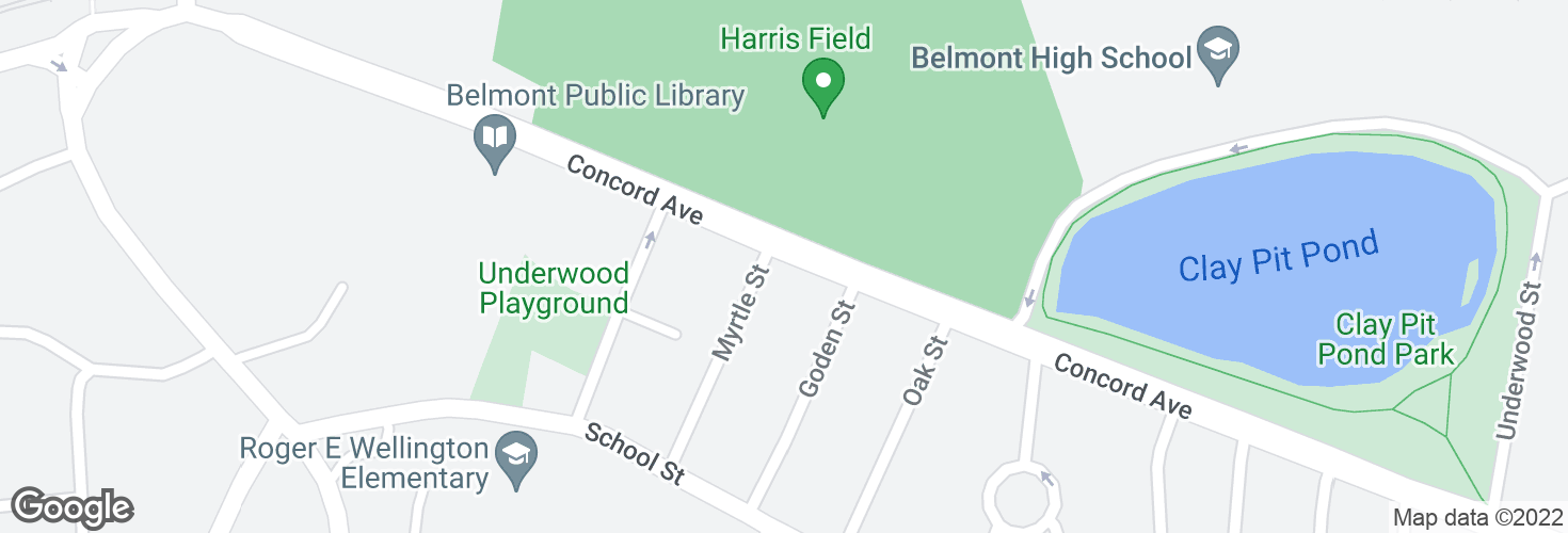 Map of Concord Ave @ Myrtle St and surrounding area