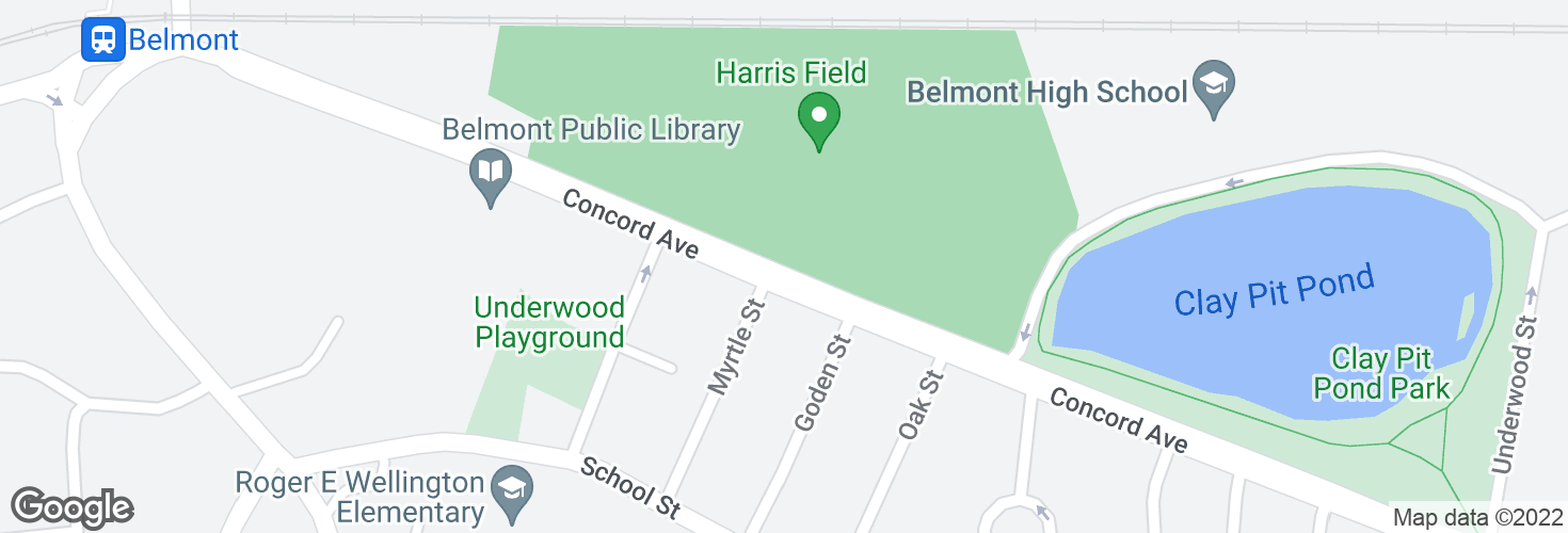 Map of Concord Ave opp Myrtle St and surrounding area