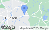 Map of Hudson, MA