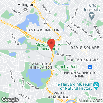 Map of Bertucci's Italian Restaurant at 5 Cambridge Park Drive, Cambridge, MA 02140