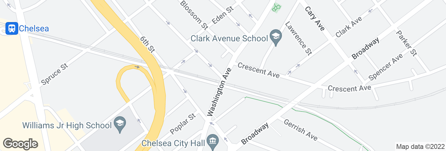 Map of Washington Ave @ Heard St and surrounding area