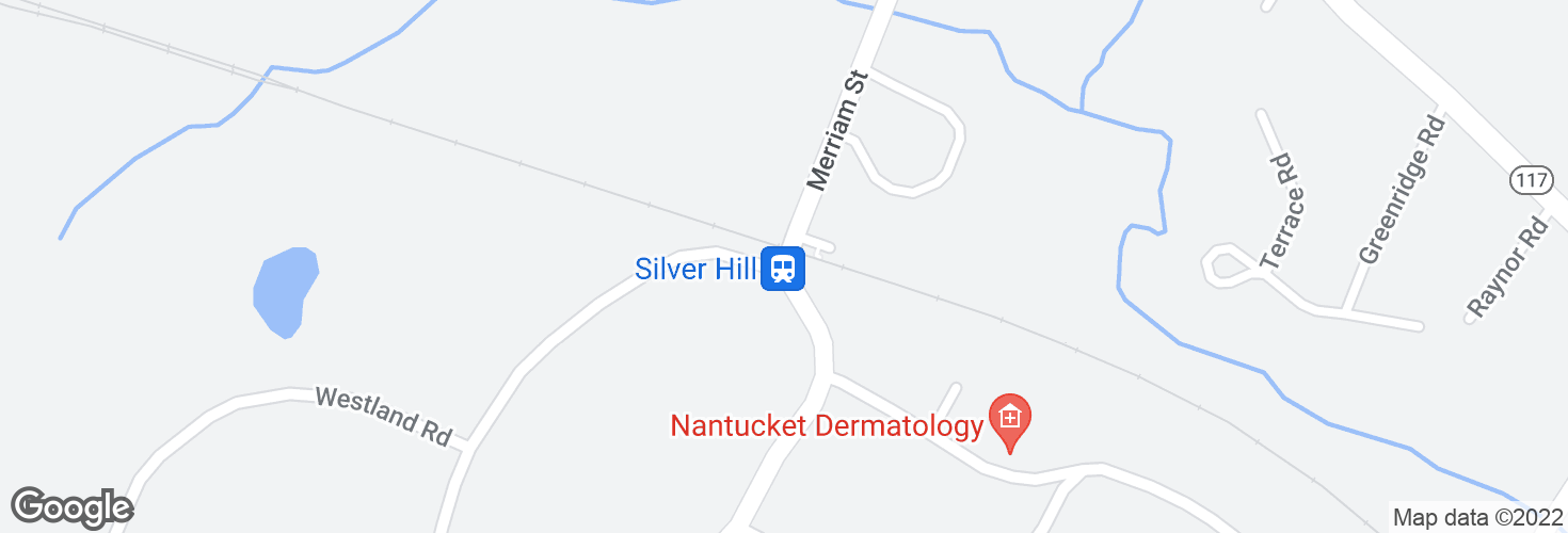 Map of Silver Hill and surrounding area