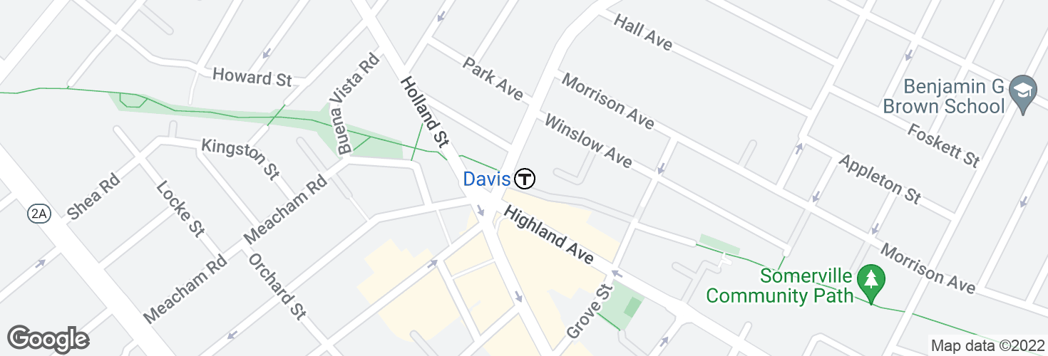 Map of Davis and surrounding area