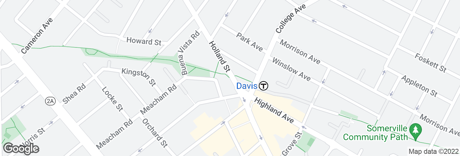 Map of Holland St @ Dover St and surrounding area