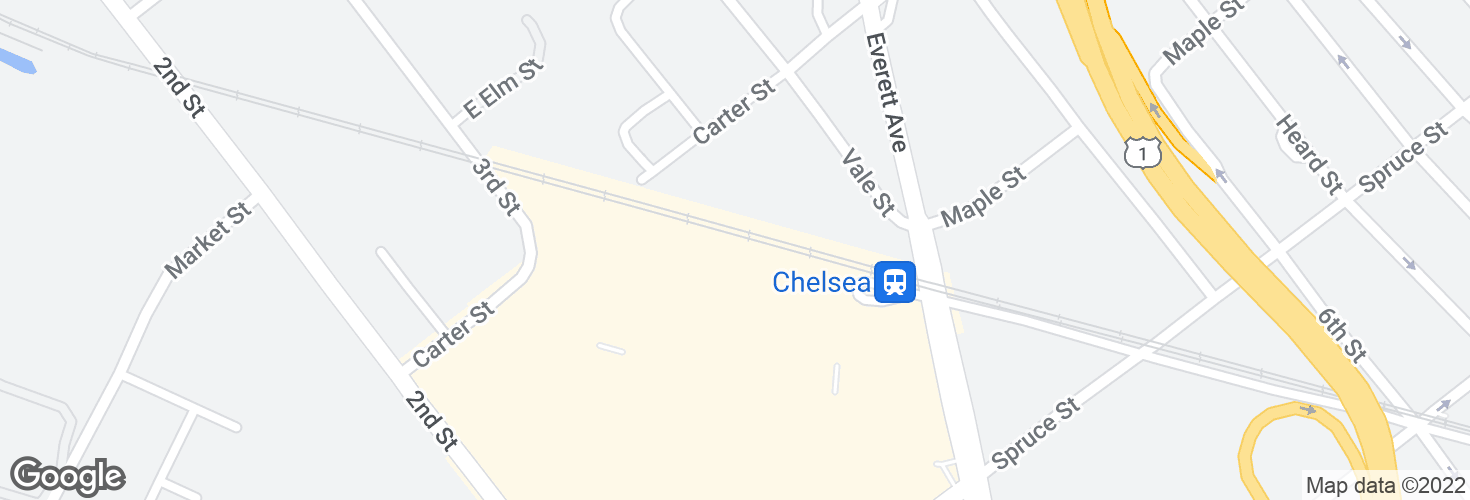 Map of Chelsea and surrounding area