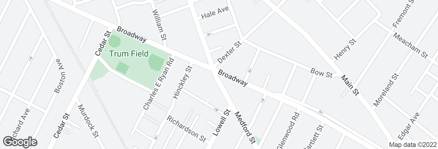 Map of Broadway @ Medford St - Magoun Sq and surrounding area