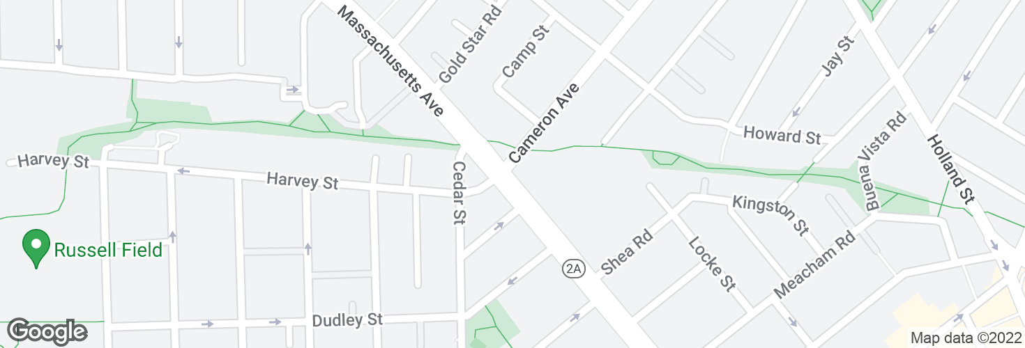 Map of Massachusetts Ave @ Cameron Ave and surrounding area
