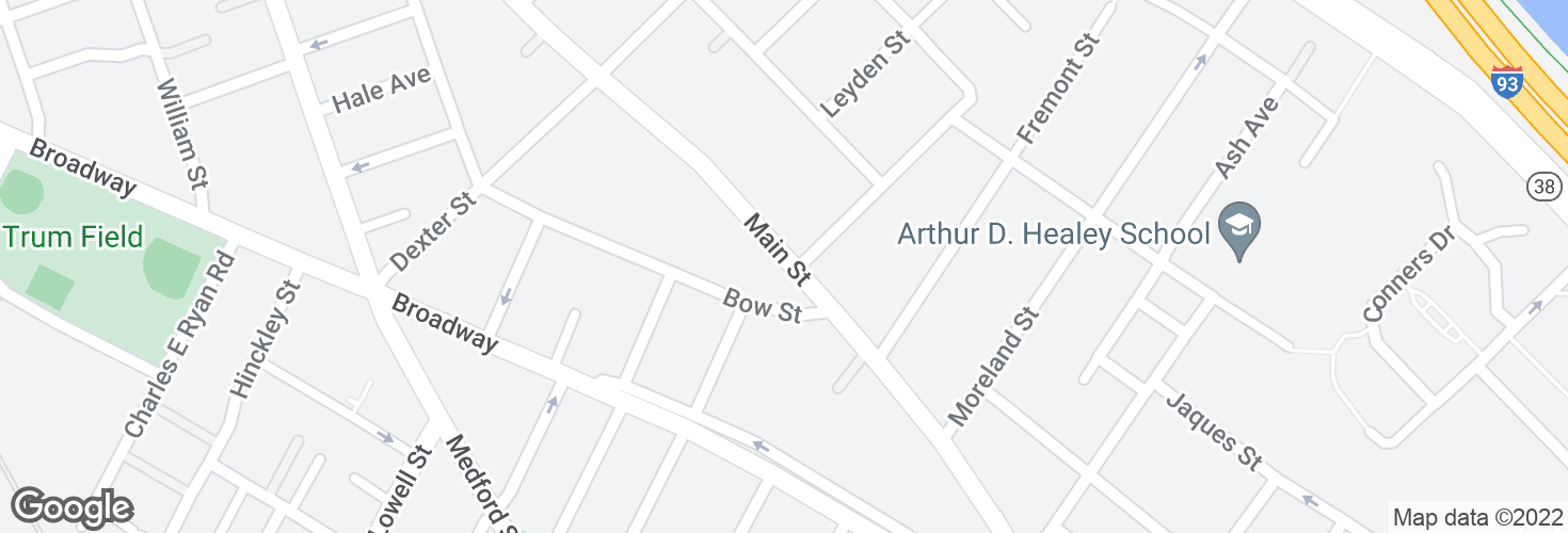 Map of Main St opp Henry St and surrounding area