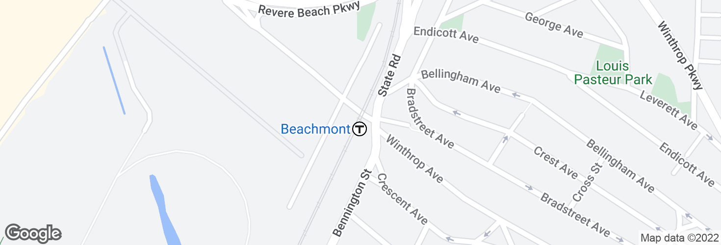 Map of Beachmont and surrounding area