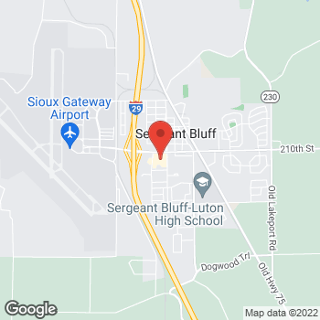 Map of Pizza Ranch at 204 1st Street, Sergeant Bluff, IA 51054