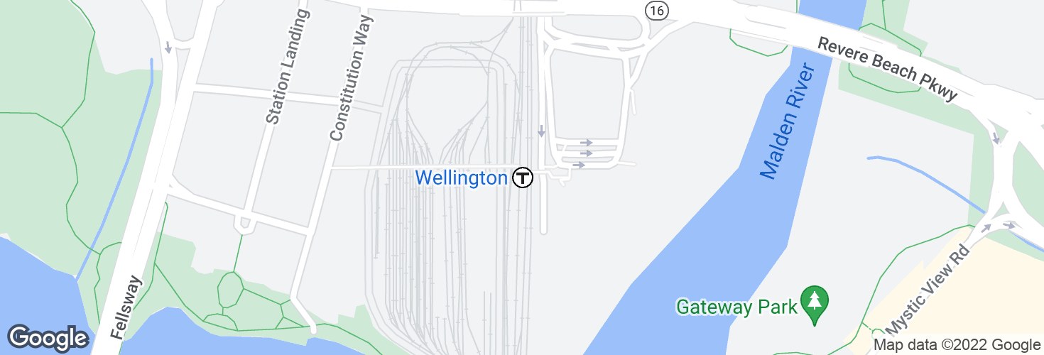 Map of Wellington and surrounding area
