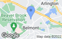 Map of Belmont, MA