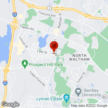 Map of Staples® Print & Marketing Services at 800 Lexington St, Waltham, MA 02451