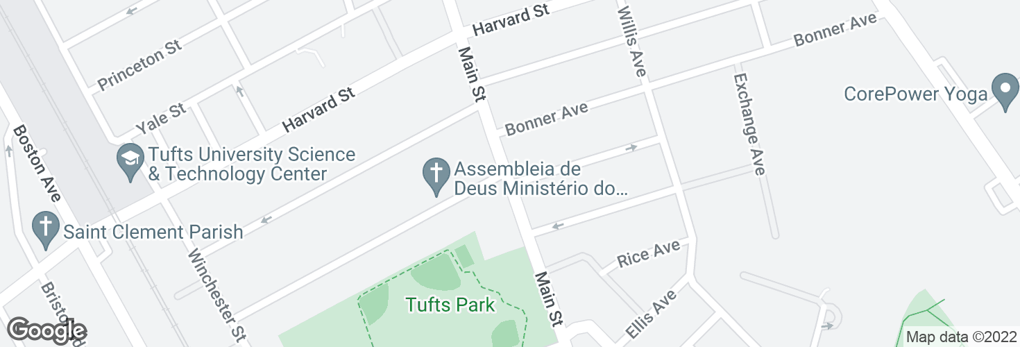 Map of Main St @ Mayberry Ave and surrounding area