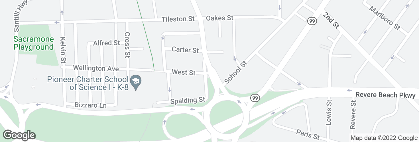 Map of Main St @ West St and surrounding area