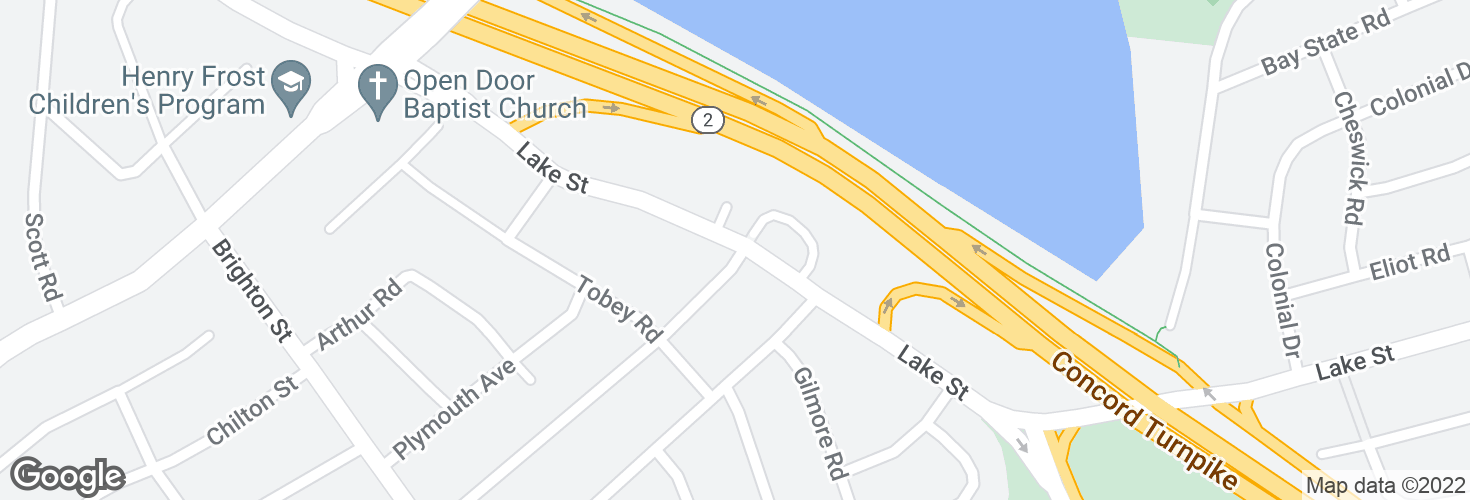Map of Lake St @ Albert Ave and surrounding area