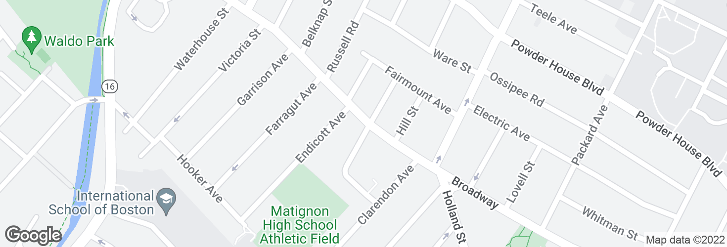 Map of Broadway @ Weston Ave and surrounding area