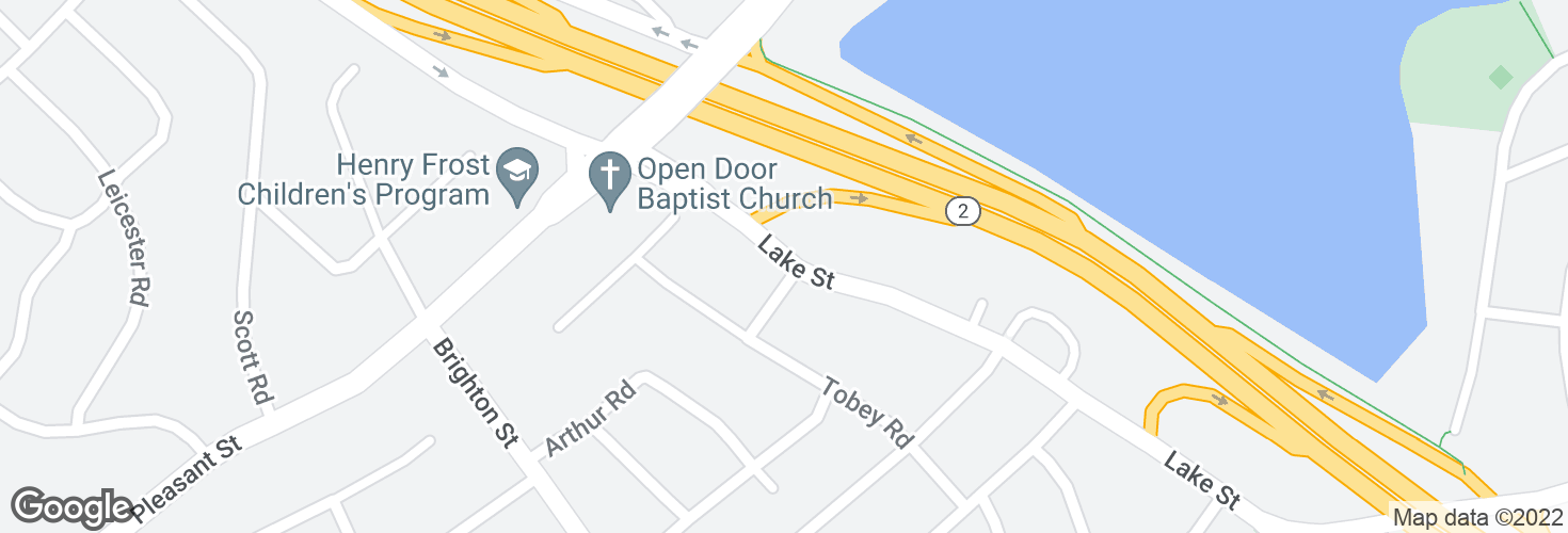 Map of Lake St @ Milton St and surrounding area